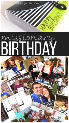 Missionary Birthday - great idea for missionaries or any birthday person who is away from home. #lds #missionary #military