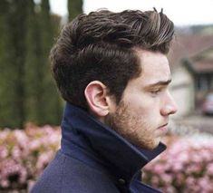 Tapered Brushed Up - Thick Men's Hairstyle -