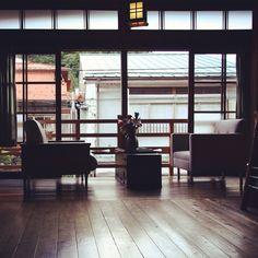 Inside of Hanaya Tokubei ryokan in Tenkawamura village, Nara, Japan. #ryokan #interior
