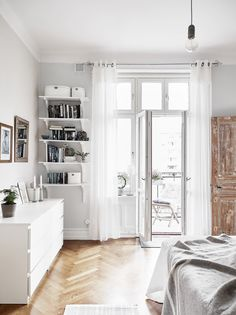 If you're limited to a studio or one-bedroom, then space-saving solutions are constantly on your radar. Small shouldn't impact your style either. Keep things hidden away in stylish drawers that blend with the environment. These IKEA drawers do the trick while looking slick.
