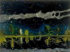 """Peter Doig (Scottish, b. 1959): Milky Way, 1989–1990. Oil on canvas. Victoria Miro Gallery, London, UK. © Peter Doig. This artwork may be protected by copyright. It is posted on the site in accordance with fair use principles.  Of Interest (""""Peter Doig Says He Didn't Paint This. Now He Has to Prove It,"""" nytimes.com): http://nyti.ms/29qmx6j"""