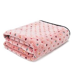 PAWZ Road Pet Dog Blanket Fleece Fabric Soft and Cute Pink M -- Learn more by visiting the image link.