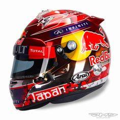 Arai GP-6 S.Vettel Suzuka 2014 by Jens Munser Designs
