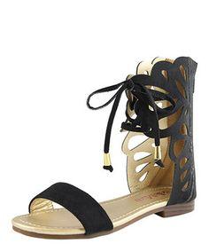 Look at this #zulilyfind! Bella Marie Black Butterfly Gladiator Sandal by Bella Marie #zulilyfinds