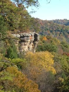 The Hocking Hills aren't widely known outside of Ohio and as far as I'm concerned the fewer people who know about it the better. Extreme Topography is an apt description: cliffs, caves, gorges, waterfalls, steeply rolling deeply wooded hills, treacherous roadways, ambitious hiking trails. There are some unusual micro-biomes protected within caverns and gorges. A fantastic middle-of-nowhere retreat, but only a hour or so from Ohio's metro areas.