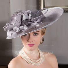 39648c7f15d50  US  99.49  Ladies  Elegant Net Yarn Bowler Cloche Hat Millinery Hats