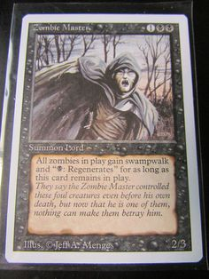 MTG: MAGIC THE GATHERING, REVISED (3RD)EDITION - ZOMBIE MASTER - NM!
