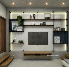 Living Room Tv Unit Designs, Muebles Living, Tv Wall Decor, Living Room Decor Inspiration, Modular Walls, Wall Storage, Storage Ideas, Food Storage, Apartment Design