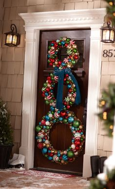 Wreath Trio From Home Depot: 10+ Holiday Decorating Ideas