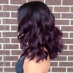 Plum to Black Ombre Hair hair, Best Ombre Hairstyles - Blonde, Red, Black and Brown Hair Black Hair Ombre, Dark Purple Hair, Burgundy Hair Ombre, Red Ombre, Burgundy Balayage, Violet Ombre, Red Violet Hair, Balayage Bob, Dark Brown Purple Hair