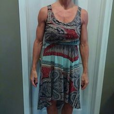 SALE DEAL! Beautiful dress Really comfy cute sleeveless summer dress with paisley design. . longer in the back. From smoke free and pet free home Xhilaration Dresses