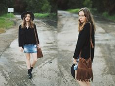Get this look: http://lb.nu/look/7553420  More looks by Kate Nutting: http://lb.nu/pditl  Items in this look:  Rubi Shoes Bag, Chicwish Shirt, Glassons Skirt, Rubi Shoes Hat, Dr Martens Boots   #casual #grunge #street