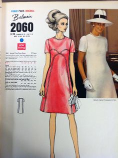 A page in the Vogue Patterns catalog from January 1969. #voguepatterns #madmen…