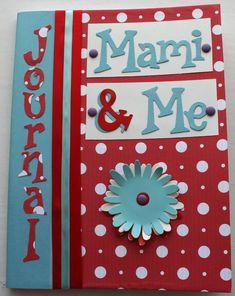 Mommy and Me Journal Notebook to share thoughts between mom and daughter. Great idea and  great memories!