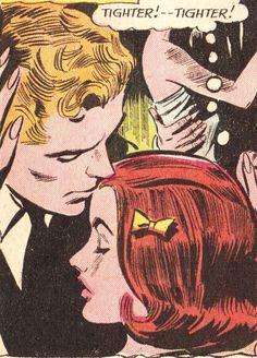 "Comic Girls Say.... ""Tighter.."" #comic #vintage"