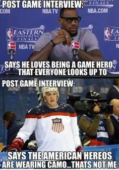Gotta love hockey guys!  (Bball sucks)