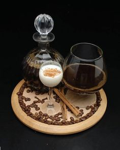 Coffee Liquor I by emptyblackhopes on DeviantArt Wine Decanter, Espresso, Liquor, Coffee Maker, Beans, Ice Cream, Deviantart, Chocolate, Alcohol