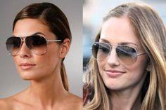 modernos óculos de sol aviador feminino