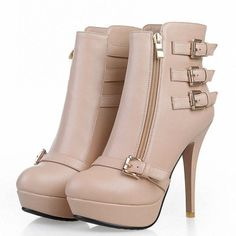 63.66$  Watch now - http://ali1ee.worldwells.pw/go.php?t=32496908119 - ENMAYER New Hot Fashion Sexy Leather Ladies High Heel Platform Ankle Boots Winter Boots and Women Shoes Snow Boots Size 34-40 63.66$