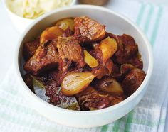 Bought a load of beef shin and made Stifado, the easiest & tastiest stew in the world. You don't need to fry the beef, just throw all raw ingredients into a casserole, cover and cook in a low oven for 3 hours.