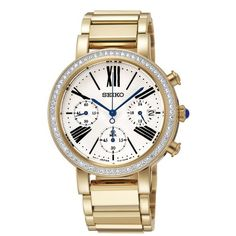 Seiko SRW014 35mm Gold Plated Stainless Steel Case Gold Plated Stainless Steel Hardlex (used for Seiko only) Women's Watch ** Be sure to check out this awesome product.