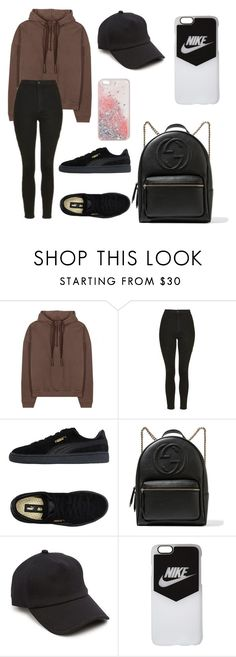 """Unbenannt #283"" by lailabalic ❤ liked on Polyvore featuring adidas Originals, Topshop, Puma, Gucci, rag & bone and NIKE"