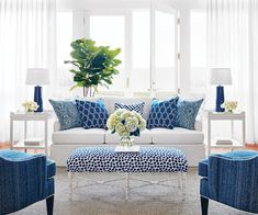 Living Room Design : Navy And White Family Room Living Decoration Of Light Blue D Decoration Of Light Blue Living Room Design ~ Something-fishy Blue And White Living Room, White Rooms, Coastal Living Rooms, New Living Room, Blue Living Room Decor, Hamptons Living Room, Small Living, Modern Living, Decoration Inspiration