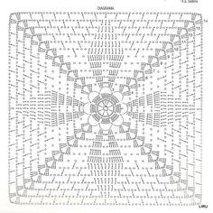 Best 12 It Is A Website For Handmade Cre - maallure Crochet Bedspread Pattern, Crochet Motif Patterns, Crochet Cushions, Granny Square Crochet Pattern, Crochet Diagram, Crochet Chart, Crochet Squares, Crochet Afgans, Crochet Wool