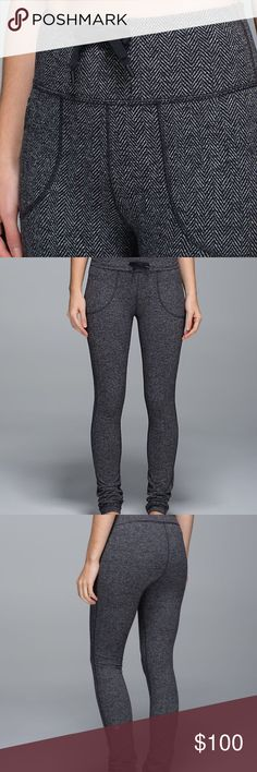 Lululemon Herringbone Pants These are AMAZING!!  Highly sought after Herringbone print.  Size 6.  In EUC lululemon athletica Pants