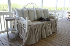 Dreamy Daybed Redo With Feedsacks And Linen