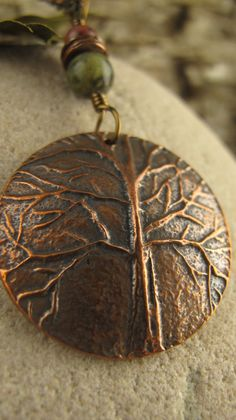 Tree of Life Copper Carved Tree Pendant by soulharborjewelry