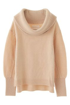 Temperley London | Nell cable-knit wool-blend turtleneck sweater ...