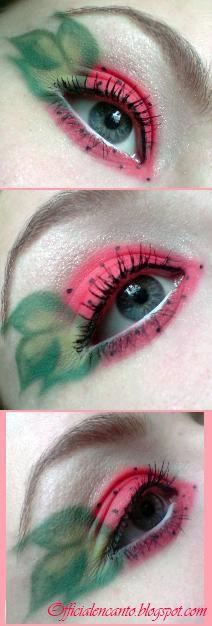 crazy strawberry � Makeup Geek Idea Gallery Strawberry Halloween, Strawberry Costume, Makeup Geek, Makeup Inspo, Makeup Inspiration, Food Costumes, Fruit Print, Stunning Eyes, Eye Art