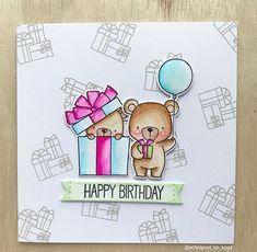 Happy Birthday Miss Sophia #mftstamps #bearyspecialbirthday #cardmaking #dienamics #zigcleancolorrealbrush #stempeln