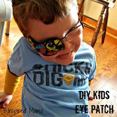Ambyopia Eye Patches Tutorial....YES!! Finally a solution for an eye patch and no more stickers!