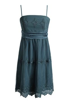 Esprit embroidered tulle dress