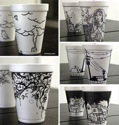 sharpie paper cup ideas - Google Search