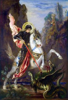Gustave Moreau, Saint George and the dragon, 1890, National Gallery, London