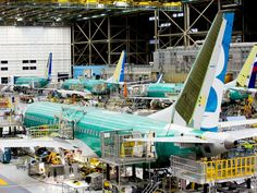 A photo tour of Boeing's 737 MAX assembly line - The second Boeing 737 MAX aircraft is prepared for first flight at Boeing's Renton factory December 7, 2015