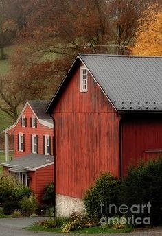 Red Barn and House