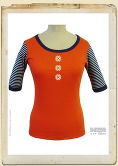 Sailor t-shirt tangerine available in size xs and xl