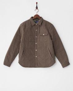 【セール】モカ  カモ刺繍シャツ風中綿入りジャケット   FLYING SCOTSMANのセール(SALE)通販なら【グラムール セールス(GLAMOUR-SALES)】