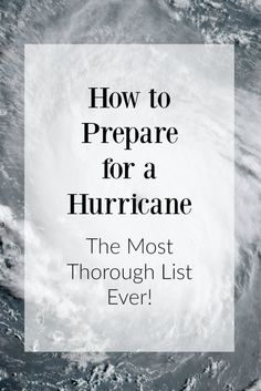 Never prepared for hurricane before? I've put together the most thorough list ever on how to prepare for a hurricane. Better to be safe and prepared! Hurricane Preparedness Checklist, Emergency Preparedness Kit, Emergency Preparation, Emergency Planning, Emergency Binder, Survival Quotes, Survival Tips, Survival Mode, Survival Stuff
