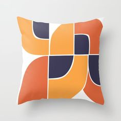Retro Minimalist Design Throw Pillow Geometric Wall Art, Colorful Wall Art, Couch Pillows, Down Pillows, Minimalist Home, Minimalist Design, Designer Throw Pillows, Decorating On A Budget, Retro Design