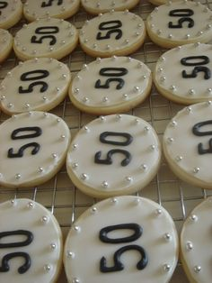 50th Birthday Party Ideas | made these as party favors for a 50th birthday party by @genevieve