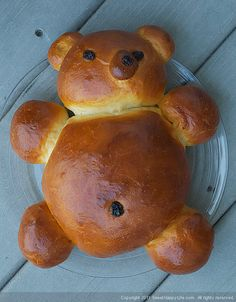 Honey-Vanilla Teddy Bear Challah