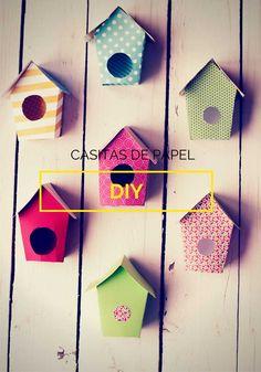 DIY Casitas de papel