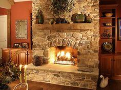 Nice simple rustic fireplace.  :)                     Eldorado Stone by EldoradoStone, via Flickr