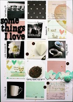 SBW Designteamarbeit von Vanessa Menhorn kit der Serie Love Notes wings of a butterfly: Some Things I Love