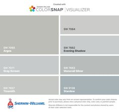 Sherwin Williams Gray Paint Color Evening Shadow Sw